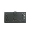 Bottega Veneta Long Wallet Gray Leather - Authentic Wallet
