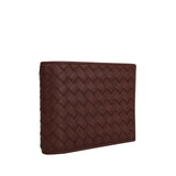 Bottega Veneta Bifold Wallet Brick Red Color - Side Look