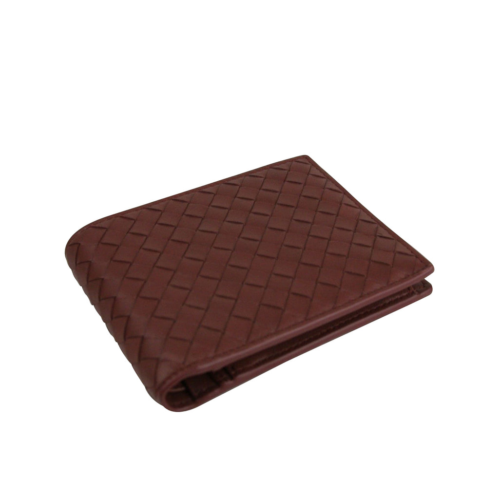 Bottega Veneta Bifold Wallet Red - Horizontal View