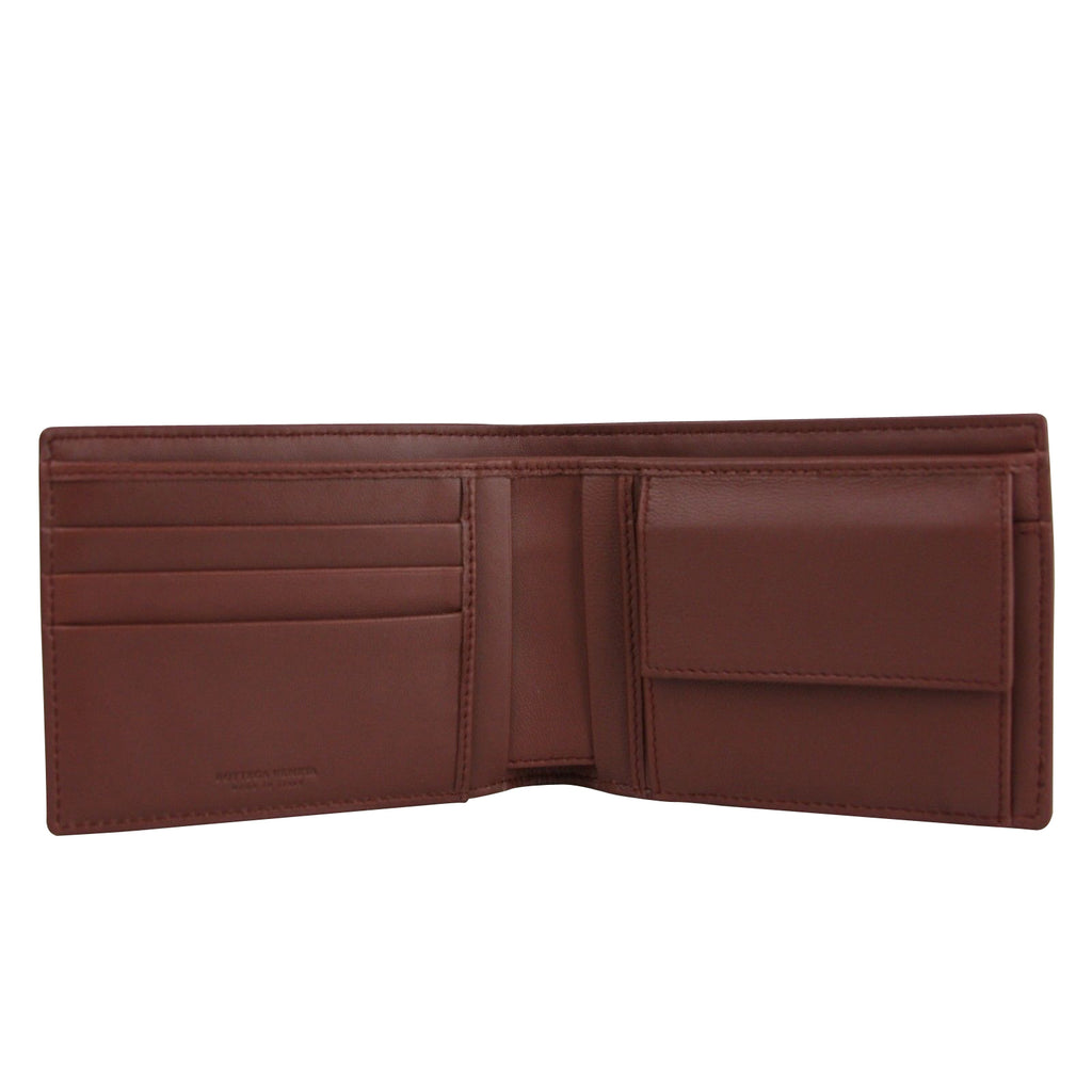 Bottega Veneta Men's Intercciaco Bifold Brick Red Leather Wallet 148324 2217 - LUX LAIR