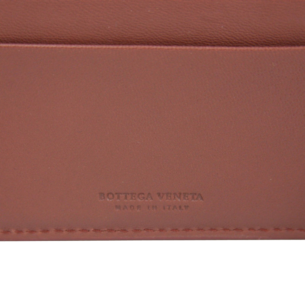 Bottega Veneta Bifold Wallet Brick Red - Made In Italy