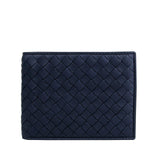 Bottega Veneta Bifold Wallet Intercciaco Blue Color