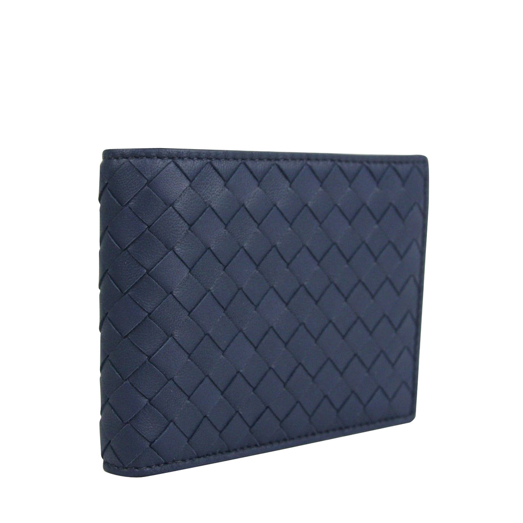 Bottega Veneta Bifold Wallet Blue Color - Pure Leather