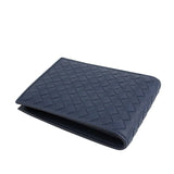 Bottega Veneta Bifold Wallet Blue - Horizontal Look