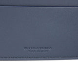 Bottega Veneta Bifold Wallet Blue Leather - Made In Italy