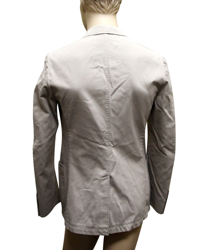 Gucci Men's Beige Cotton Blazer Jacket 265424 8279