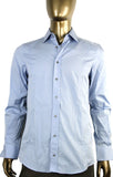 Gucci Men's Button-Down Blue Fitted Cotton Dress Shirt 269055 4910