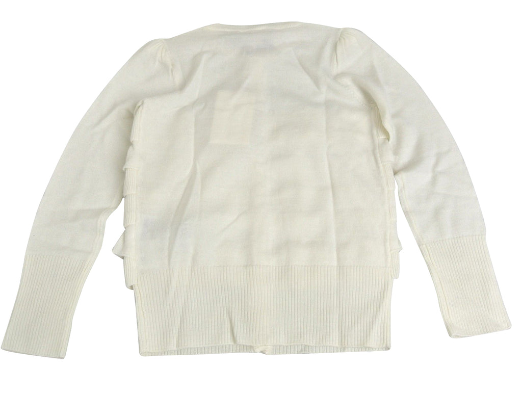Gucci Kids White Ruffle Wool / Cashmere / Silk Sweater Top 270714 (Size 4)