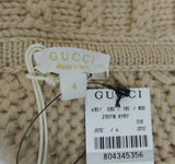 Gucci Kids Brown Wool Sweater Poncho 270718 (Size 4)