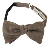 Bottega Veneta Men's Light Brown Silk Cashmere Bow Tie 270827 2800 - LUX LAIR