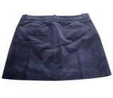 Gucci Women's Interlocking G Blue Cotton Modal Elastane Velveteen Skirt with 2 Pocket 273045 (38)