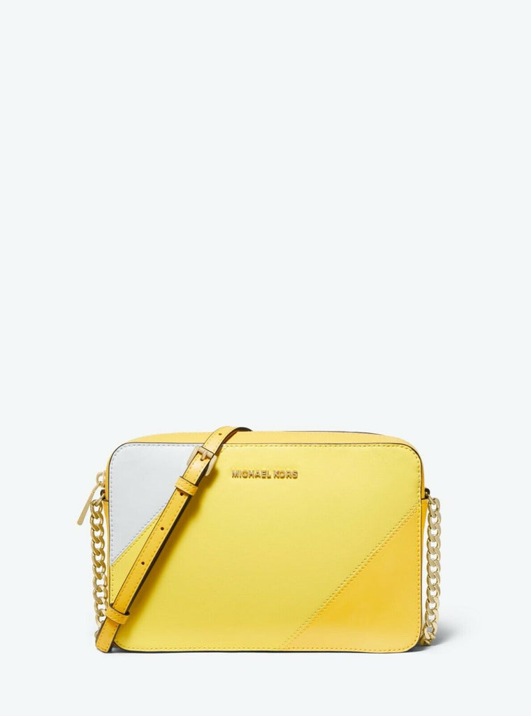 Michael Kors Crossbody Bag Large Yellow East West - Front