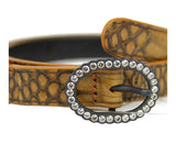 Bottega Veneta Women's Brown Python Skinny Belt 278507 - LUX LAIR
