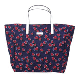Gucci Women's Blue Canvas Handbag Heartbit Print Tote Bag 282439 4160 - LUX LAIR