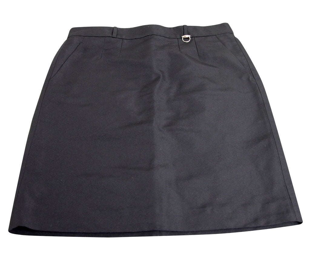 Gucci Women's Pencil Black Polyester Cotton Skirt With Horsebit Detail 287839 (42)