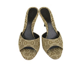 Gucci Women's Canvas Horsebit Print Slides Sandals 295093 - LUX LAIR