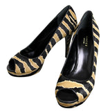 Gucci Women's Calf Hair Betty Open-Toe Platform Pump Shoes 297203 - LUX LAIR