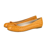 Bottega Veneta Ballet Flats Orange Color For Women