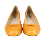 Bottega Veneta Ballet Flats Orange Leather - Front Look