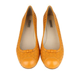 Bottega Veneta Ballet Flats Orange Leather - Top Look