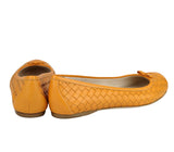 Bottega Veneta Ballet Flats Orange Leather - Back Look