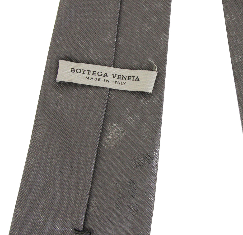 Bottega Veneta Tie Grey / Metallic Silk - Made In Italy