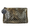 Bottega Veneta Women's Intrecciomirage Gold / Black Leather Clutch Pouch Bag 301201 8414