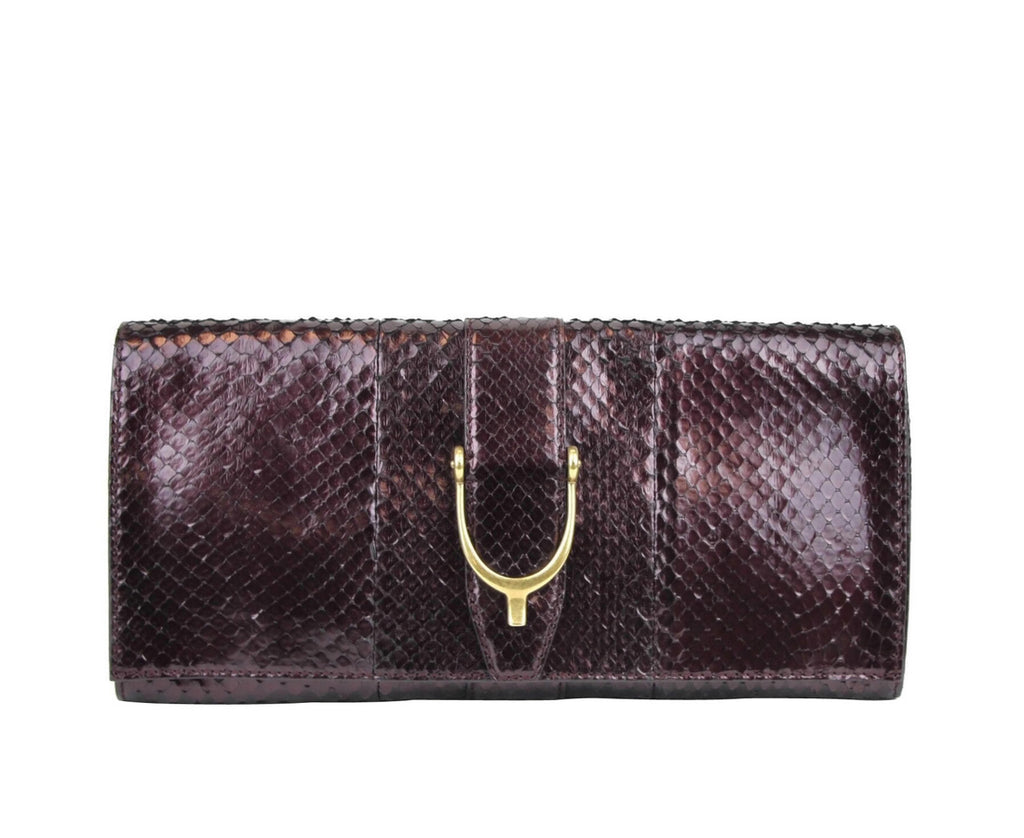 Gucci Women's Python Soft Stirrup Clutch Bag 304719