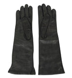 Bottega Veneta Women's Black Leather Long Gloves 304902 1000