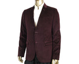 Gucci Men's 2 Buttons Square Evening Wine Printed Cotton Elastane Stretch Jacket 322626 6250