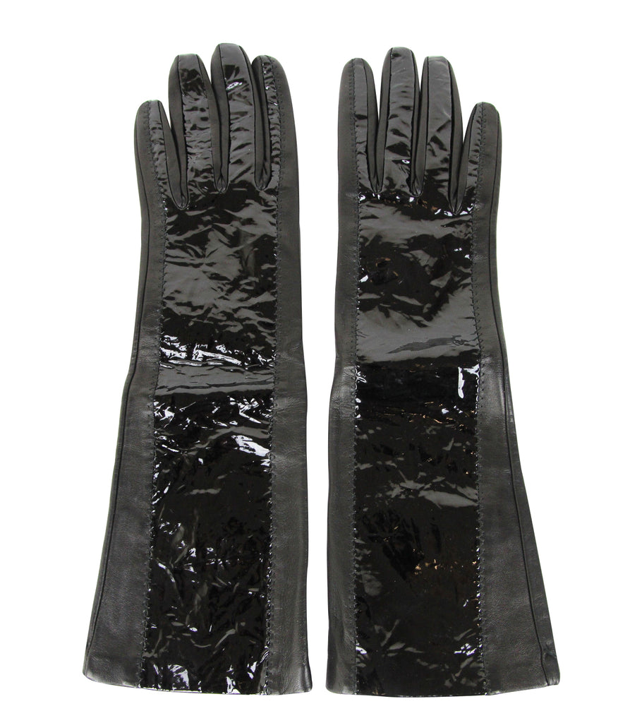 Bottega Veneta Long Gloves Patent Leather
