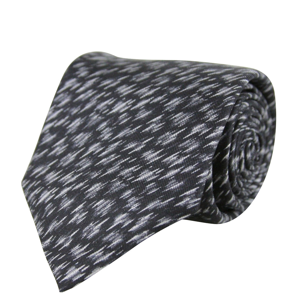 Bottega Veneta Men's Dry Brush Black/White Silk Pattern Tie 325511 1061 - LUX LAIR