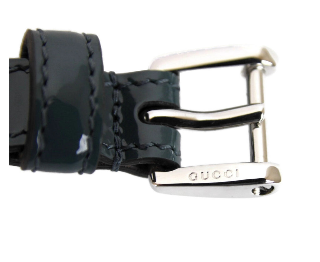 Gucci Women's Patent Leather Slim Buckle Belt 331689 - LUX LAIR