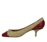 Bottega Veneta Bow Ballet Flats Straw Leather Side View