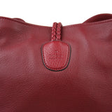 Gucci Bamboo Red Leather Soft Deer Large Hip Tote Bag 338978 6236