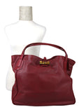 Gucci Bamboo Red Leather Soft Deer Large Hip Tote Bag 338978 6236 - LUX LAIR