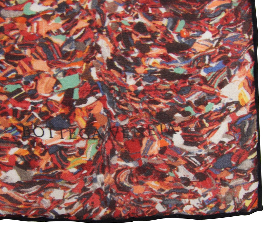 Bottega Veneta Women's Stained Glass Patterned Multicolor Silk Large Scarf 339634 6276