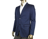 Gucci Men's Horsebit Lining Blue Cotton Two Button Blazer Jacket 339816 4564