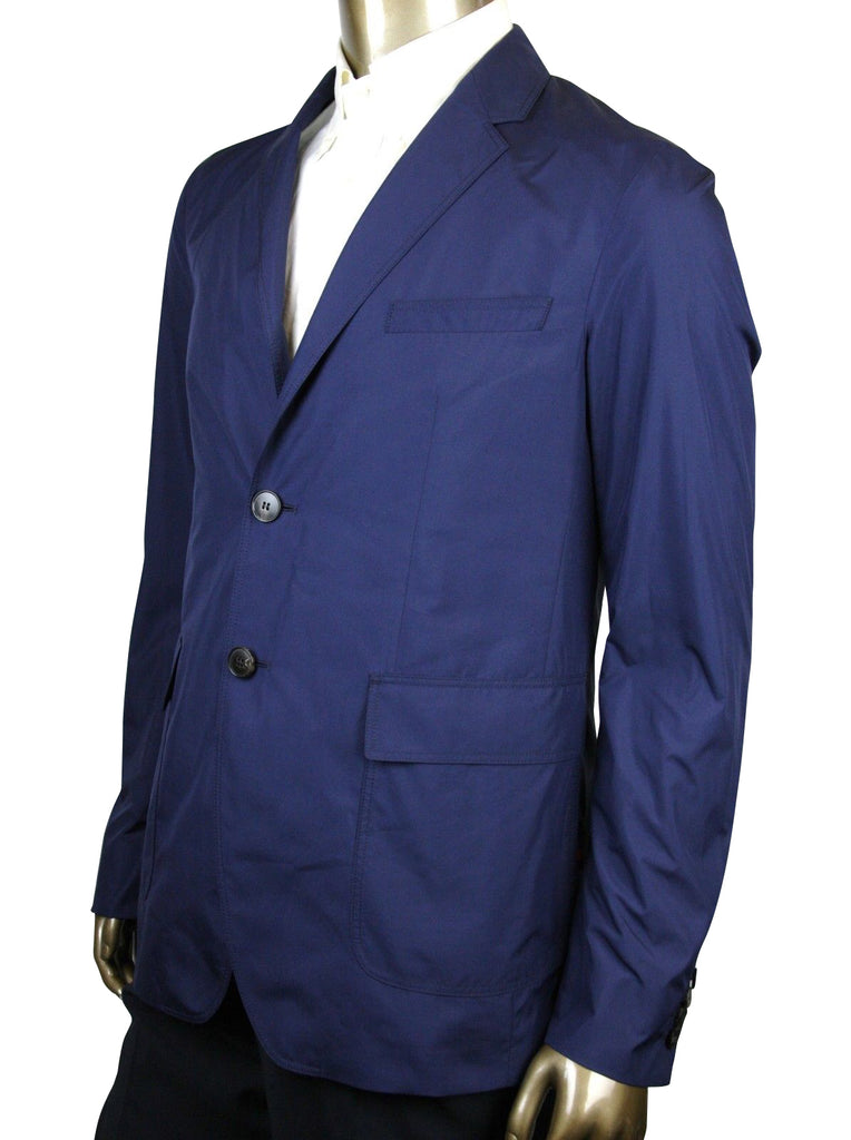 Gucci Men's Light Weight Navy Blue Polyester Techno Jacket 352983 4379