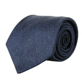 Bottega Veneta Men's Dot Print Dark Blue/Gray Cotton Silk Leopard Tie 355737 4062