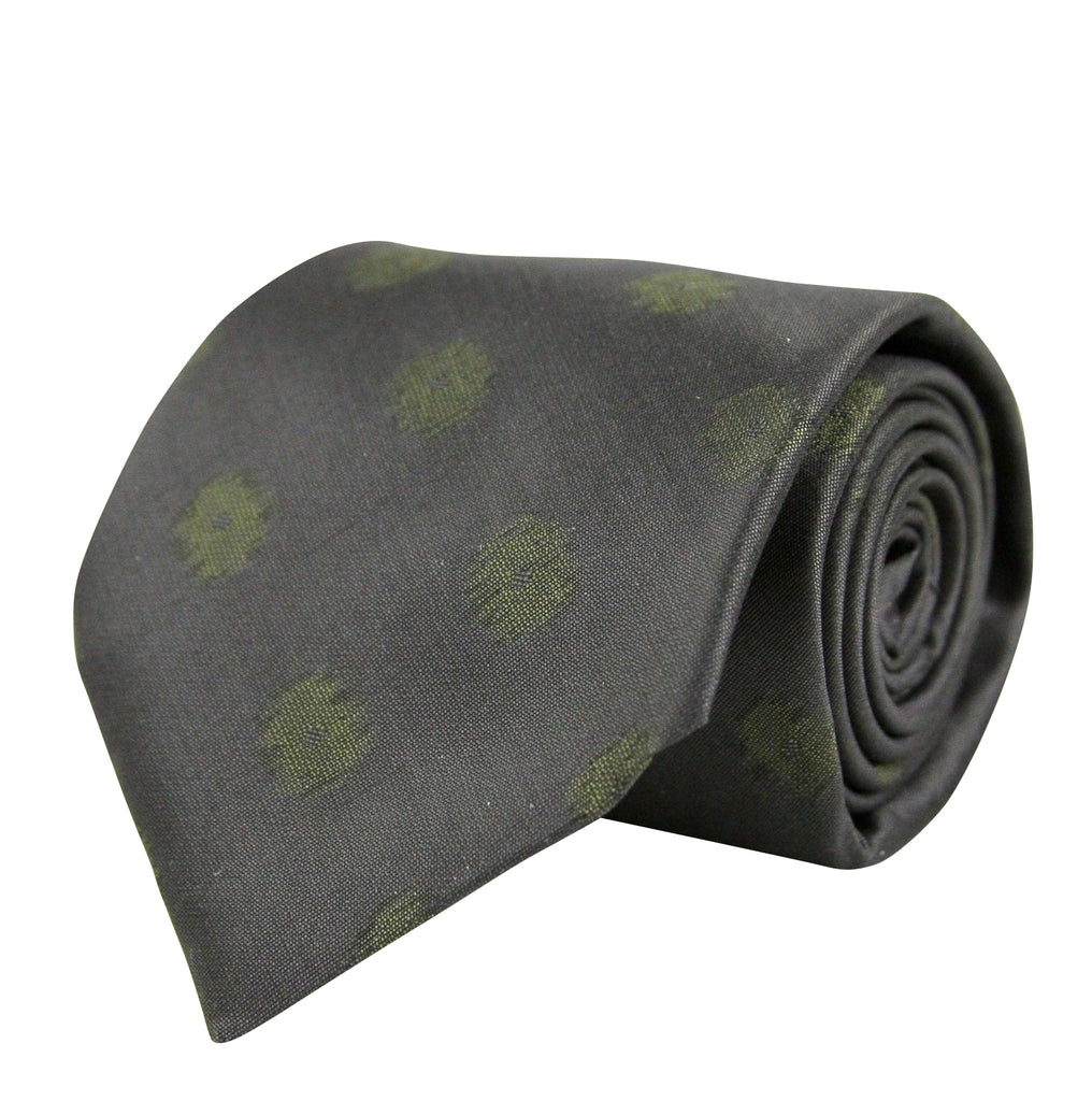 Bottega Veneta Tie Silk With Green Dots For Men