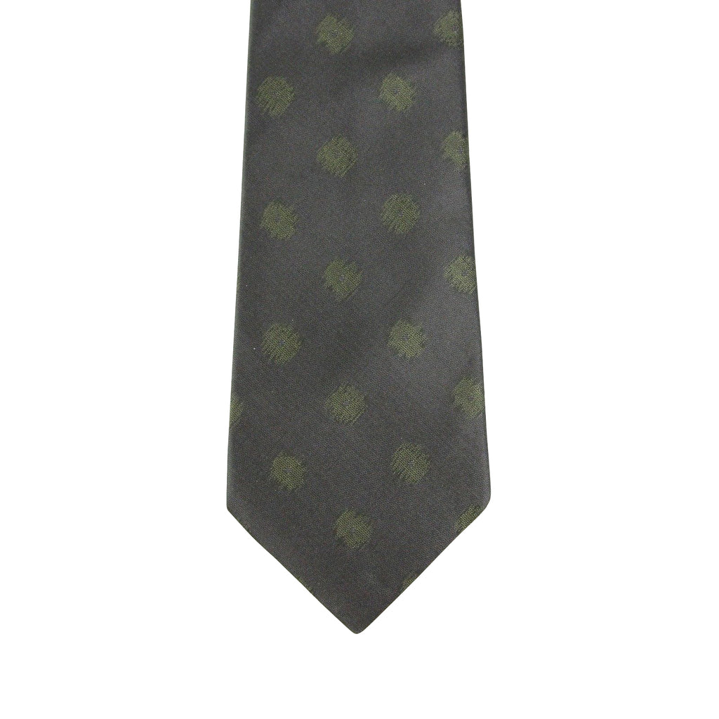 Bottega Veneta Tie Silk With Green Dots - Modern Style