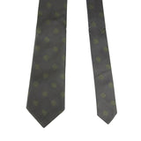 Bottega Veneta Tie Silk With Green Dots - Gray Color