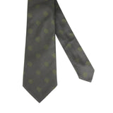 Bottega Veneta Tie Silk With Green Dots - Front Look