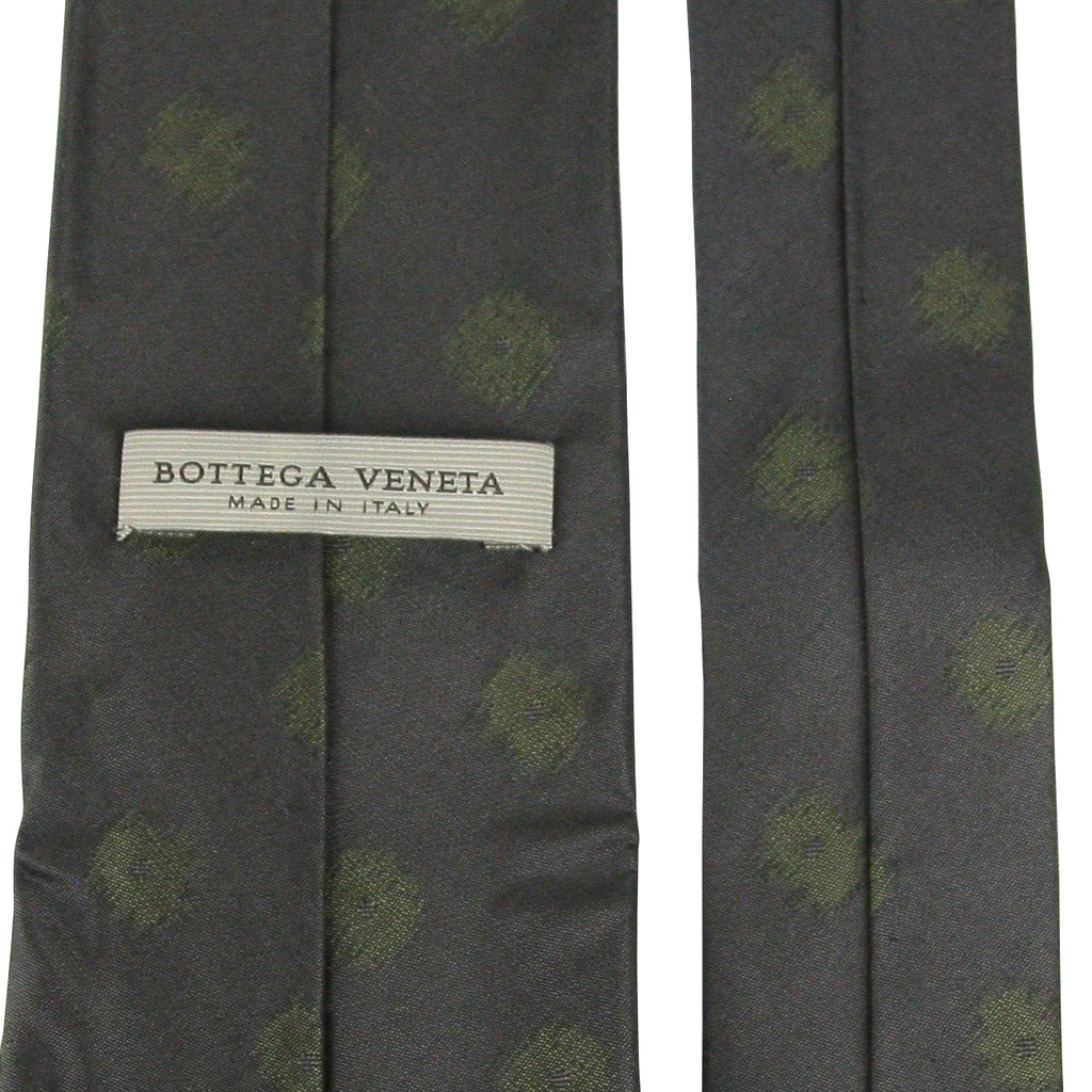 Bottega Veneta Tie Silk With Green Dots - Bv Tags