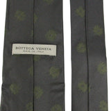 Bottega Veneta Men's Tie Gray Silk With Green Dots 355751 1166 - LUX LAIR