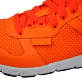 Gucci Men's Running Neon Orange Leather Lace up Sneakers 369088 7623