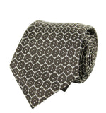 Bottega Veneta Silk Tie Flower Print Beige Color