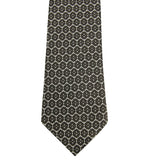 Bottega Veneta Silk Tie Flower Print Dark Brown Color
