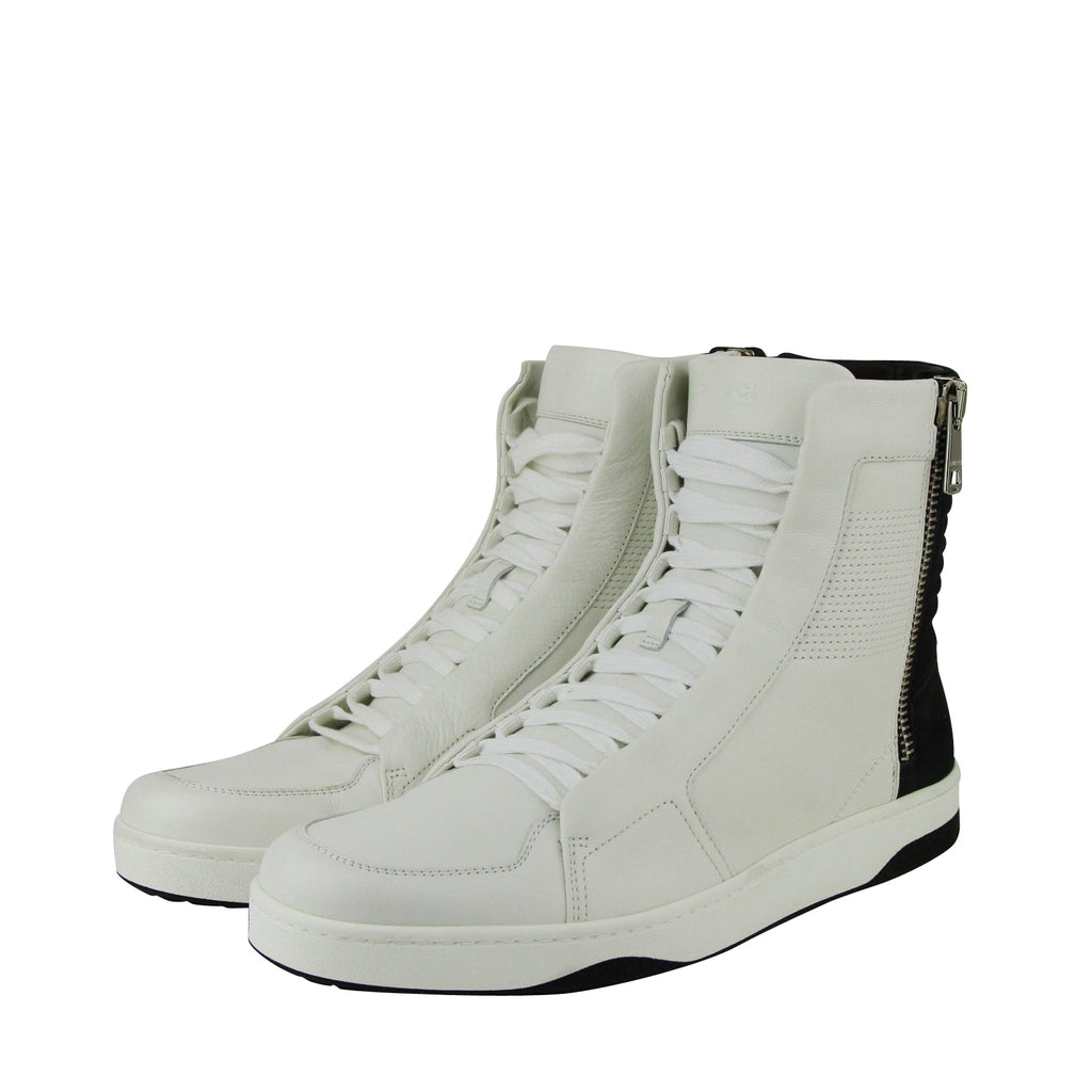 Gucci Zip Up Black / White Suede / Leather Hi Top Sneakers 386743 9072